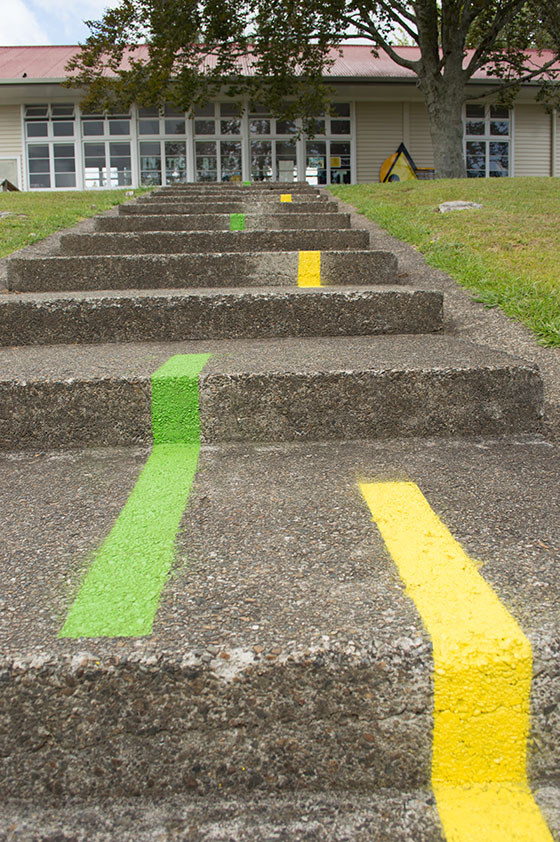 Colour coded path