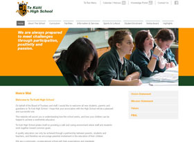 Te Kuiti High School Website